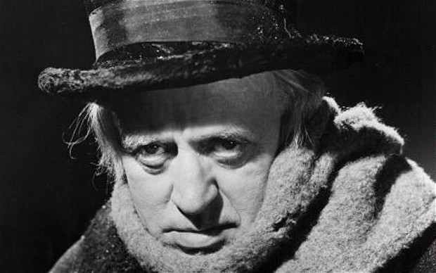 Alistair Sim's Scrooge was less a cruel miser than a miserable man, making him a character we actually wanted to see change.